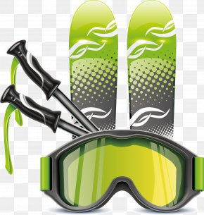 Green Sports Equipment Eye Protection Elements - Sport Racket Icon PNG