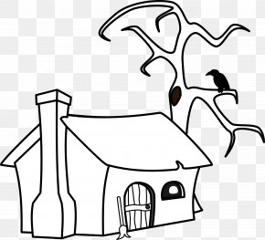 Cottage Cliparts - Drawing House Cottage Witchcraft Clip Art PNG
