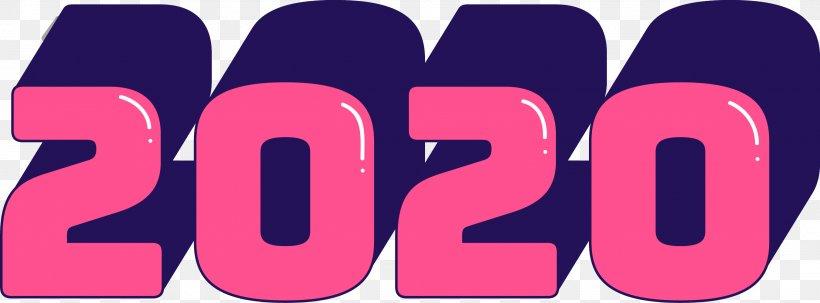 2020 Happy New Year 2020 Happy New Year, PNG, 2701x1001px, 2020, 2020 Happy New Year, Happy New Year, Logo, Magenta Download Free