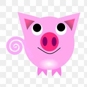 Cute Pink Pig - Pig Chinese Zodiac Rat Chinese Astrology Clip Art PNG