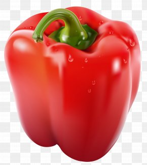 Transparent Red Pepper Clipart Picture - Bell Pepper Chili Pepper Clip Art PNG