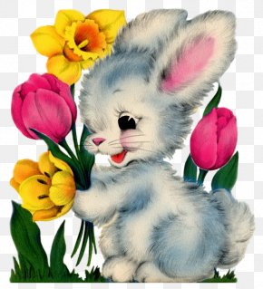 Easter Bunny - Easter Bunny Easter Postcard Rabbit Clip Art PNG
