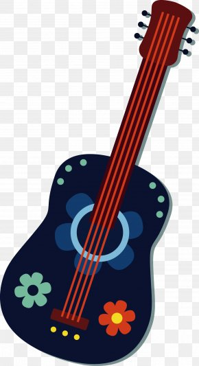 Blue Guitar Vector - Bass Guitar Cinco De Mayo PNG