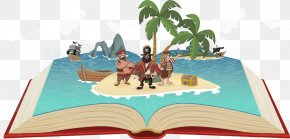 Vector Books On Pirates - Piracy Caricature Illustration PNG