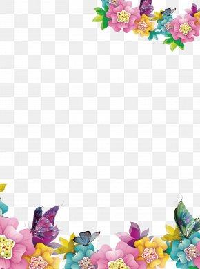 Creative Floral Border - Computer File PNG