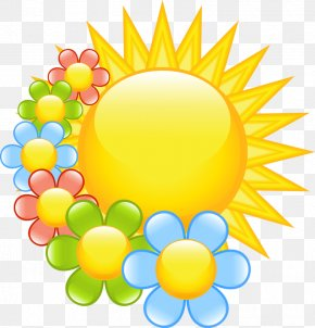 Hand-painted Sun - Flower Spring Free Content Clip Art PNG