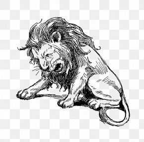 Lion - Lion Roar Digital Stamp Sketch PNG
