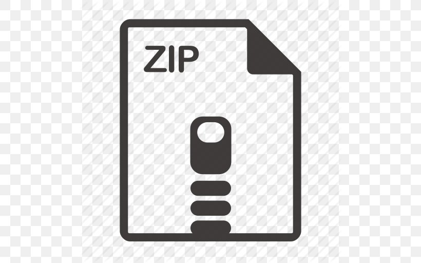Zip Text File Computer File, PNG, 512x512px, Zip, Area, Black And White, Brand, Com File Download Free