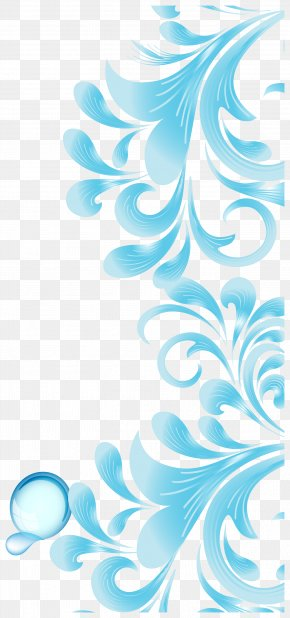 Sky Blue Abstract Pattern Vector - Brochure Flyer PNG