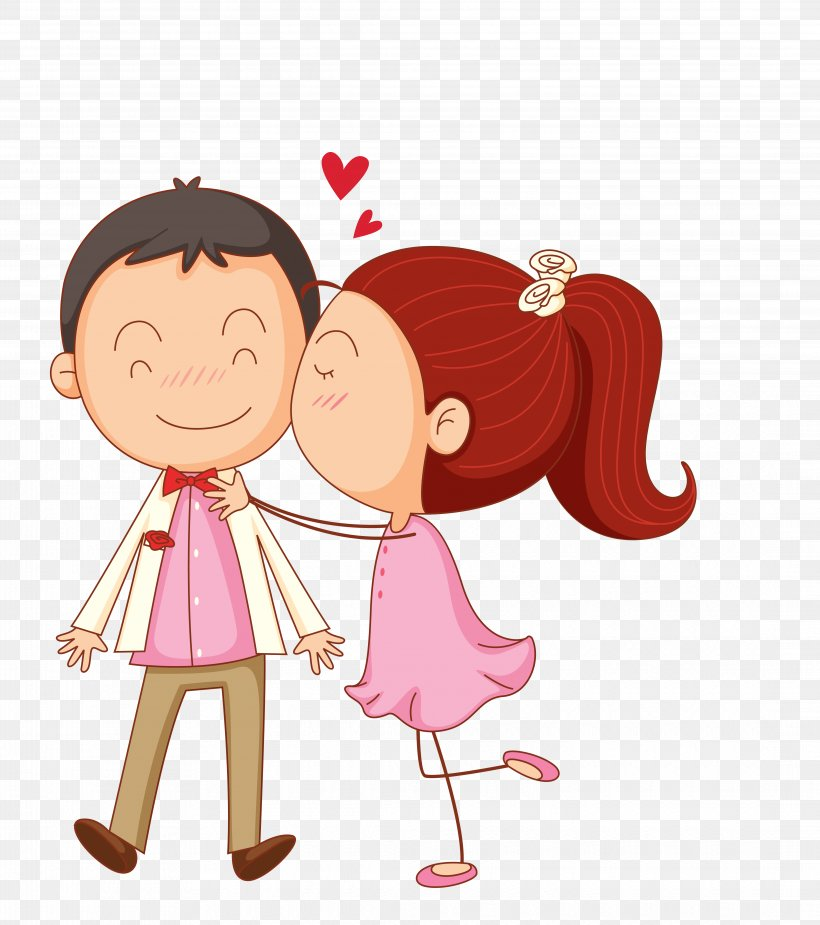 Kiss Cartoon Clip Art Png 4345x4905px Watercolor Cartoon Flower Frame Heart Download Free