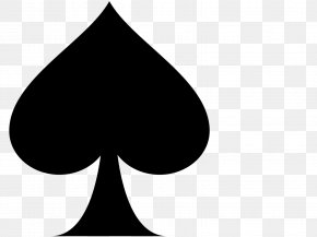 Ace Spade - Playing Card Ace Of Spades Suit Clip Art PNG