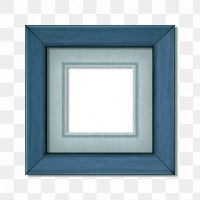 A Small Blue Frame - Picture Frame Film Frame Photography PNG
