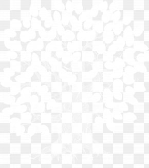 White Snowflakes Little Heart Trees Vector - Black And White Angle Point Pattern PNG