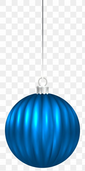 Blue Christmas Ball Ornament Clip Art Image - Blue Lighting Sphere Christmas Ornament Pattern PNG
