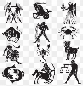 Transparent Zodiac Signs Set Clipart - Tattoo Chinese Zodiac Scorpio Astrological Sign PNG