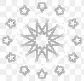 Color Gray Snowflake Pattern - Black And White Grey Snowflake PNG