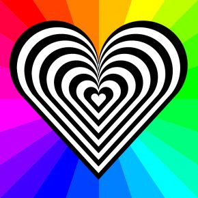 Free Heart Vector - Rainbow Euclidean Vector Illustration PNG
