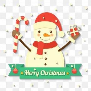 Vector Christmas Snowman - Snowman Christmas Clip Art PNG