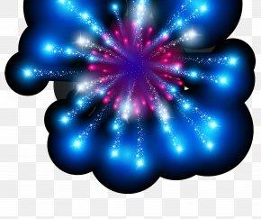 Blue Fireworks Flame Light Effect Element - Light Fireworks PNG
