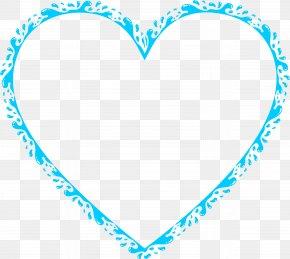 Aqua - Heart Water Clip Art PNG