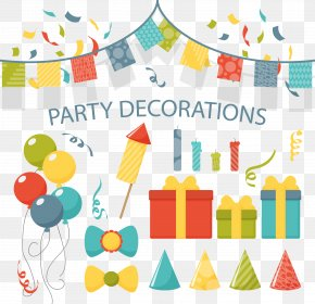 Vector Painted Birthday Party - Party Birthday Cake Euclidean Vector PNG
