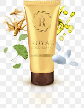 Mask Health - Wrinkle Gold Skin Mask Facial PNG