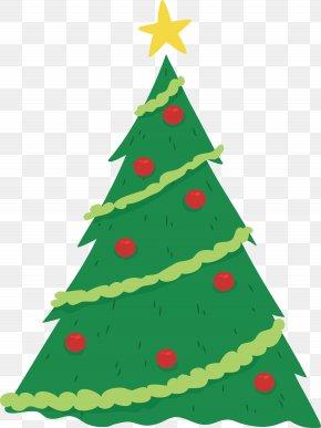 Green Christmas Tree - Christmas Tree Euclidean Vector Candle Fir PNG