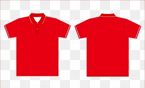 Red T-shirt Reverse Vector - Printed T-shirt Hoodie Clothing PNG