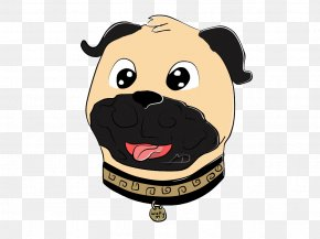 Pug Dog Breed Snout Font PNG