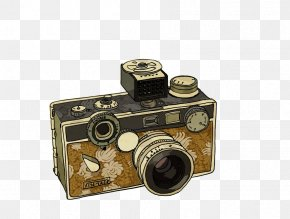 Hand-painted The Camera - Wall Decal Sticker Polyvinyl Chloride Decorative Arts PNG