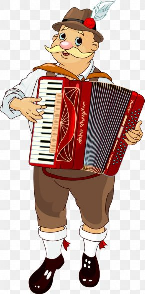 A Man Who Plays A Vertical Piano - Oktoberfest Accordion Stock Photography Illustration PNG