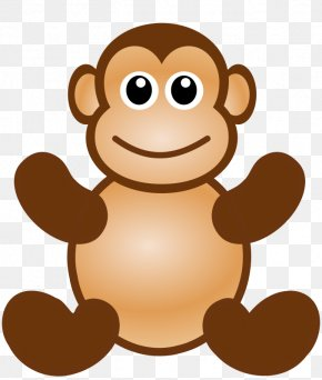 Sad Monkey Face - Monkey Face Clip Art PNG