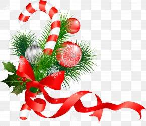 Christmas - Christmas Ornament Candy Cane Santa Claus Christmas Decoration PNG