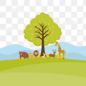 Vector The Trees And Animals On Earth - Euclidean Vector Adobe Illustrator Download Icon PNG