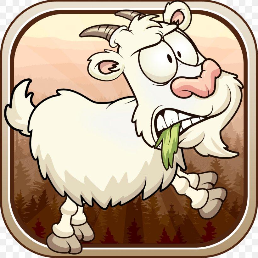 Goat Sheep Mammal Livestock Cattle, PNG, 1024x1024px, Watercolor, Cartoon, Flower, Frame, Heart Download Free