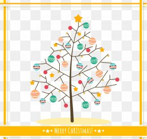 Color Lob Christmas Tree Vector Material - Christmas Tree Christmas Card Christmas Decoration PNG