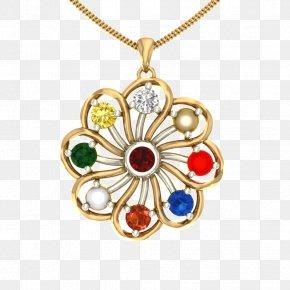 Gold Jewelery - Locket Earring Necklace Navaratna Charms & Pendants PNG