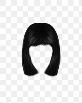 Women Hair Image - Black Hair Wig Long Hair PNG