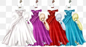 Fashion Flower - Costume Design Gown Character Pink M PNG