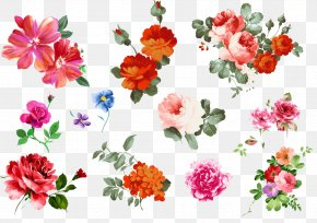 Gouache Flowers Vector Material - Flower Gouache PNG
