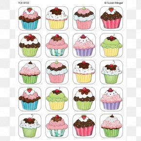 Muffin - Glitter Cupcakes Stickers Bakery Glitter Cupcakes Stickers Wall Decal PNG