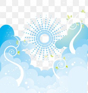 Dream Sky Vector Pattern - Sky Adobe Illustrator Pattern PNG