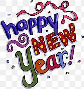 Text Happy New Year - Happy New Year PNG