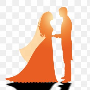 New Hand On The Silhouette - Wedding Marriage Silhouette PNG