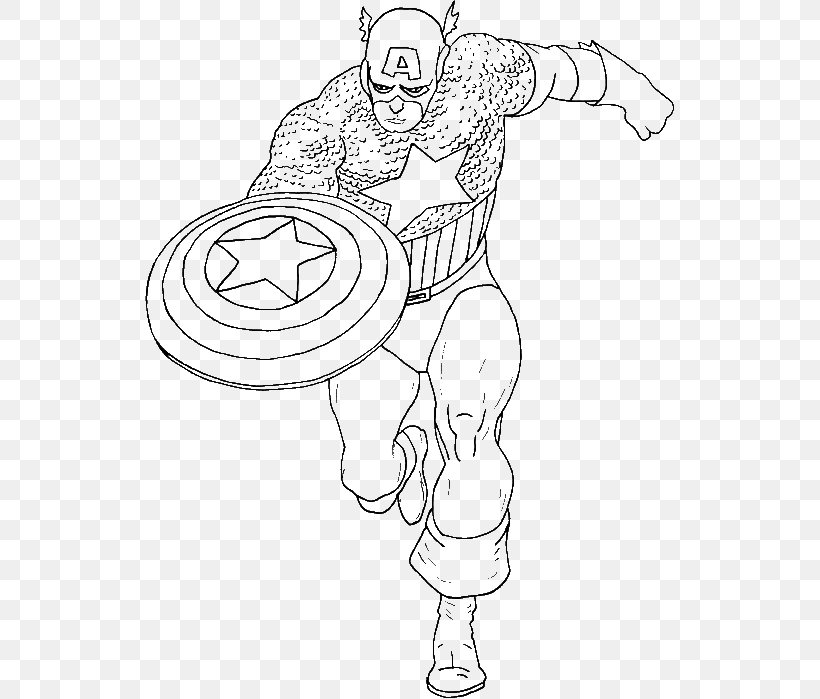 Captain America Coloring Book Pages Coloring And Drawing