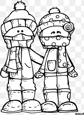 Cute Stamp Side - Coloring Book Drawing Winter Clip Art PNG
