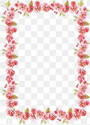 Picture Frame Fashion Accessory - Blue Flower Borders And Frames PNG