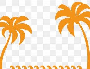 Orange Coconut Tree Vector - Tree Euclidean Vector Coconut PNG