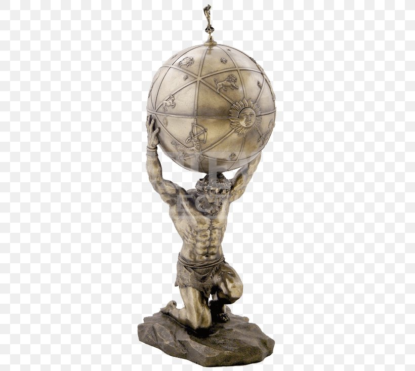 Atlas Earth Sculpture Statue Greek Mythology Png 733x733px