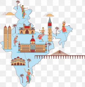 Buddhist Map - Mumbai Vector Map PNG